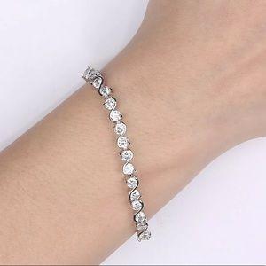 Jewelry - 18k White Gold Cubic Zirconia Tennis Bracelet